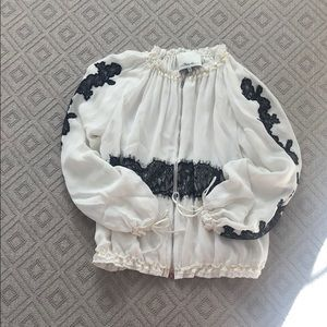 3.1 Phillip Lim Black and white lace bomber, XS